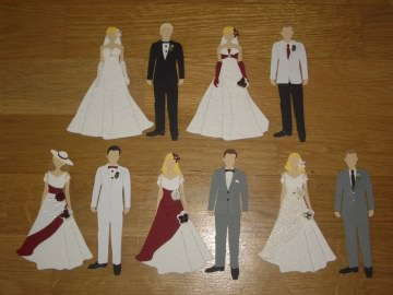 Stanzteile Kartenschmuck Kartendeko Hochzeitspaar Brautpaar Hochzeit Braut
