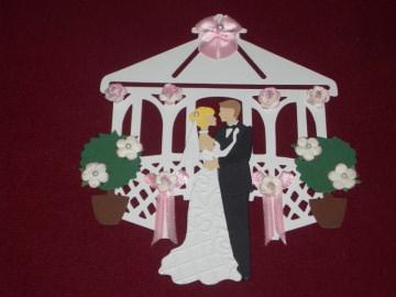Stanzteile Hochzeit Pavillion Hochzeitspavillion  Kartenschmuck Kartendeko - Handarbeit kaufen