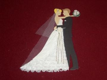 Stanzteile Brautpaar Hochzeit Braut Bräutigam Kartenschmuck Kartendeko - Handarbeit kaufen