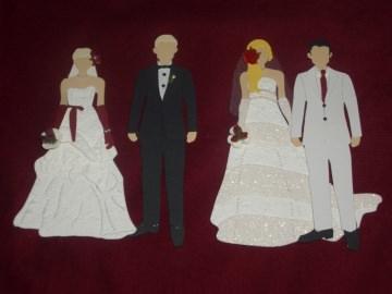 Stanzteile Brautpaar Hochzeit Braut Bräutigam Kartenschmuck Kartendekoration Scrapbooking - Handarbeit kaufen
