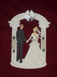Stanzteile Brautpaar Hochzeit Braut Bräutigam Kartenschmuck Kartendeko