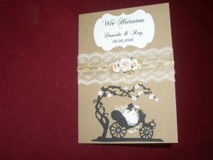 Einladungskarten Hochzeit Einladungen Hochzeitskutsche Vintage Boho Rustic Rustikal
