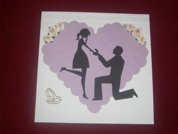 3D Einladungskarten Einladungen Grußkarte Verlobung Hochzeit  - Handarbeit kaufen