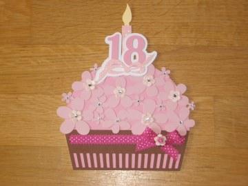 Grußkarte Grusskarte Geburtstagskarte 18. Geburtstag Karte Cupcake