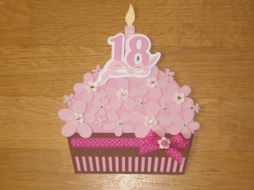 Grußkarte Grusskarte Geburtstagskarte 18. Geburtstag Karte Cupcake - Handarbeit kaufen