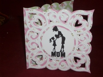 Karte Grußkarte Grusskarte Muttertag Muttertagskarte Vintage - Handarbeit kaufen