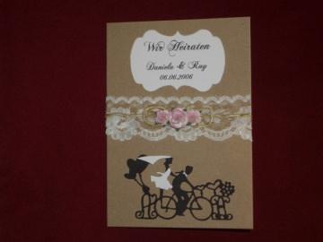 Einladungskarten Hochzeit Hochzeitskarten Einladungen Einladungskarte Rustic - Handarbeit kaufen