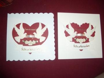 Einladungskarten Hochzeit Hochzeitskarten Einladungen Einladungskarte Einladung Tauben - Handarbeit kaufen