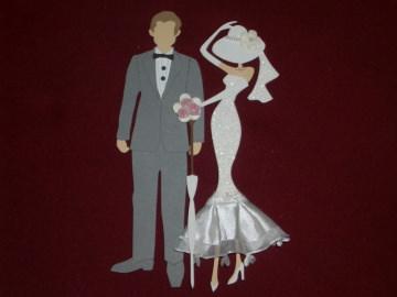 Stanzteile Kartenschmuck Kartendeko Hochzeitspaar Brautpaar Hochzeit Braut Scrapbooking - Handarbeit kaufen