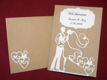 Einladungskarten Einladungen Hochzeit Hochzeitseinladungen Rustic Vintage Bohemian - Handarbeit kaufen