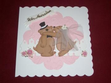 Bären Einladungskarten Einladungen Hochzeitskarten Einladungskarte Einladung Hochzeit  - Handarbeit kaufen