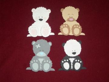 Stanzteile Bär Bären Kindergeburtstag Geburtstag Kartenschmuck Karten basteln Kartendeko Scrapbooking