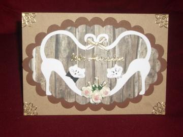 Einladungskarten Hochzeit Hochzeitseinladung Einladungen Einladung Einladungskarte Karte Katzen