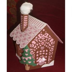 Lebkuchenhaus Box Geschenkbox Keksbox Weihnachten Weihnachtsgeschenk Lebkuchenhausbox - Handarbeit kaufen