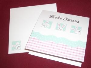 Osterkarte Glückwunschkarte Grusskarte Ostern Karte Osterhase Grußkarte - Handarbeit kaufen