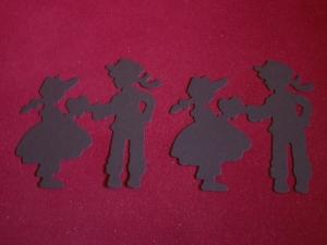 Scrapbooking Stanzteile Kartenschmuck Kartendekoration Valentinstag Junge & Mädchen Silhouette - Handarbeit kaufen