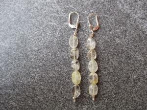 Ohrhänger aus Silber mit Rutil Quarz Perlen - Handarbeit kaufen