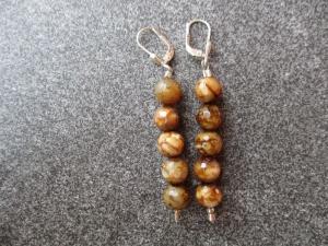 Ohrhänger aus Silber mit facettierten Achat Perlen - Handarbeit kaufen