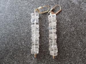 Ohrhänger aus Silber mit Bergkristall Perlen - Handarbeit kaufen