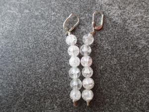Ohrhänger aus Silber mit Bergkristall Perlen (Kopie id: 100268384) - Handarbeit kaufen