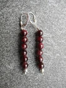 Ohrhänger aus Silber mit Granat Perlen - Handarbeit kaufen