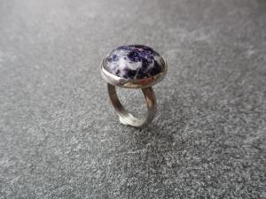 Handgefertigter Ring aus Silber 925 mit einem ca. 20x18 mm großen schönen Lepodolith - Handarbeit kaufen