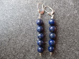 Ohrhänger aus 925 Silber mit 8mm Lapislazuli Perlen