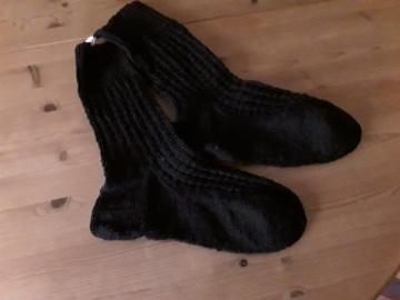 schwarze Socken in Übergröße Gr.46/47