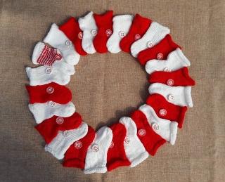 Weihnachtssocken-Adventskalender gestrickt - Handarbeit kaufen