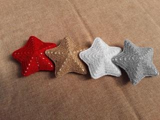 Weihnachtsterne in verschiedenen Farben  (klein) - Handarbeit kaufen