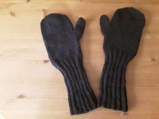 gestrickte Fausthandschuhe mit langem Schaft - Handarbeit kaufen