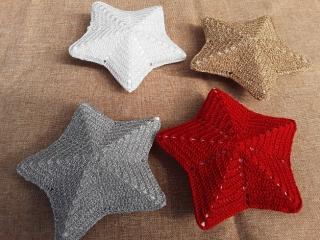 Weihnachtsterne in verschiedenen Farben (groß)  - Handarbeit kaufen