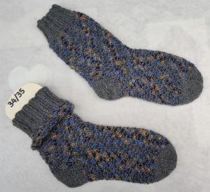 dicke zweifarbige Socken Gr.34/35  - Handarbeit kaufen