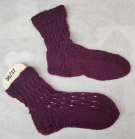 wunderschöne handgestrickte Socken in der Gr.36/37 - Handarbeit kaufen