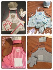Koch Set - Kinderschürze inkl. Mütze und Handschuhe