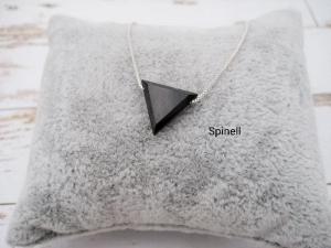 Spinell-Kette, Spinell Dreieck, natürlich, 925 Silber, Goldfilled, Boxkette, zierlich, minimalistisch, Edelstein - Handarbeit kaufen