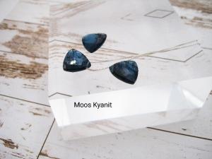 Kyanit-Kette, Moos Kyanit, Dreieck, natürlich, 925 Silber, Goldfilled, Rosegoldfilled, Boxkette, zierlich, minimalistisch, Edelstein - Handarbeit kaufen