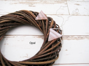 Opal-Kette, Opal rosa, Dreieck, natürlich, 925 Silber, Goldfilled, Rosegoldfilled, Boxkette, zierlich, minimalistisch, Edelstein - Handarbeit kaufen