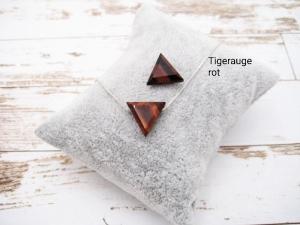 Tigerauge-Kette, Roter Tigerauge, Dreieck, natürlich, 925 Silber, Goldfilled, Boxkette, zierlich, minimalistisch, Edelstein - Handarbeit kaufen