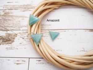 Amazonit-Kette, Amazonit Dreieck, natürlich, 925 Silber, Goldfilled, Boxkette, zierlich, minimalistisch, Edelstein - Handarbeit kaufen