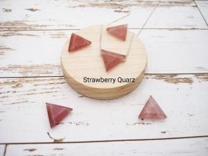 Quarz-Kette, Strawberry Quarz, Quarz Dreieck, natürlich, 925 Silber, Goldfilled, Boxkette, zierlich, minimalistisch, Edelstein - Handarbeit kaufen