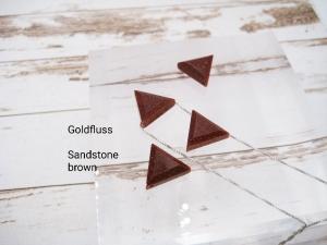 Goldfluss-Kette, sandstone brown, Anhänger Dreieck, 925 Silber, Goldfilled, Boxkette, zierlich, minimalistisch, Edelstein, Geschenk für Sie - Handarbeit kaufen