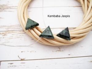 Jaspis-Kette, Kambaba Jaspis, Anhänger Dreieck, 925 Silber, Goldfilled, Boxkette, zierlich, minimalistisch, Edelstein, Geschenk für Sie - Handarbeit kaufen