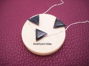 Aventurin-Kette, Aventurin Dreieck, Aventurin blau, 925 Silber, Boxkette, zierlich, minimalistisch, Edelstein - Handarbeit kaufen