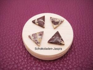 Jaspis-Kette, Schokoladen Jaspis, Dreieck, natürlich, 925 Silber, Goldfilled, Rosegoldfilled, Boxkette, zierlich, minimalistisch, Edelstein - Handarbeit kaufen