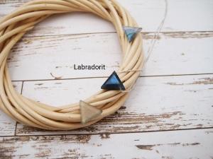 Labradorit-Kette, Anhänger Labradorit, natürlich, 925 Silber, Goldfilled, Rosegoldfilled, Boxkette, zierlich, minimalistisch, Edelstein - Handarbeit kaufen