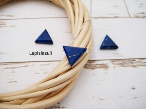 Lapislazuli-Kette, Anhänger Lapislazuli, natürlich, 925 Silber, Goldfilled, Boxkette, zierlich, minimalistisch, Edelstein - Handarbeit kaufen