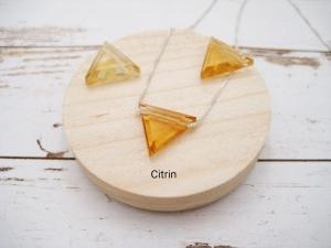 Citrin-Kette, Citrin Dreieck, natürlich, 925 Silber, Goldfilled, Boxkette, Cardanokette, zierlich, minimalistisch, Edelstein - Handarbeit kaufen