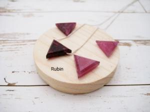 Rubin-Kette, Rubin Dreieck, natürlich, 925 Silber, Goldfilled, Rosegoldfilled, Boxkette, zierlich, minimalistisch, Edelstein - Handarbeit kaufen
