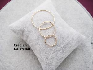 Creolen, für Wechsel-Ohrringe, Goldfilled, 10mm, 12mm, 14mm, 20mm, 24mm, 30mm  - Handarbeit kaufen